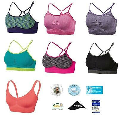 a1c59b9f10 Crivit Sports Ladies Seamless Sports Bra Light Level Sports Bra Top Sports  Wear