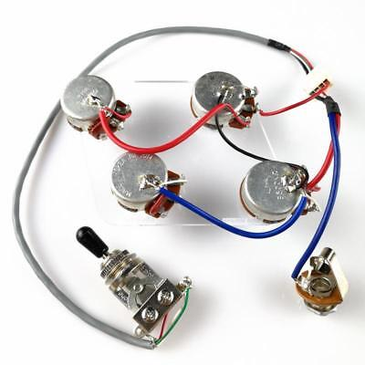 Lp Electric Guitar Pickup Wiring Harness For Epi Sg Lp Dot 1 Toggle Switch Jack