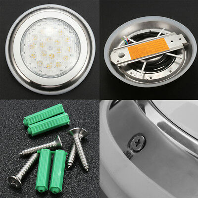 18W RGB Underwater LED Swimming Pool Lights Show Spa Lamp 12V IP68 Stainless
