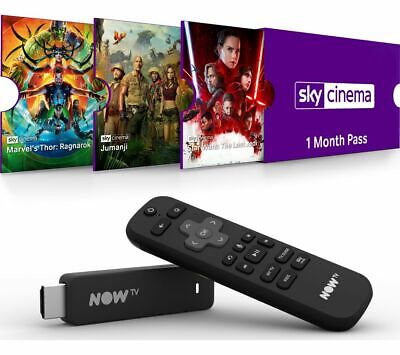 NOW TV Smart Stick with HD & Voice Search - 1 Month Cinema Pass - Currys
