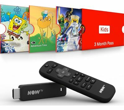 NOW TV Smart Stick with HD & Voice Search - 3 Month Kids Pass - Currys