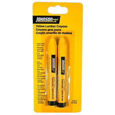 Johnson Lumber Crayons Yellow 3502-Y Lead Free Non-Toxic Weather Fade Resistant