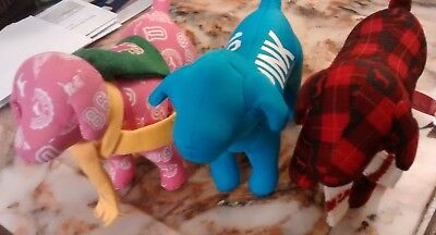 Lot Of 3 Victoria's Secret Pink Blue Red Dogs Mint Condition  Free Shipping
