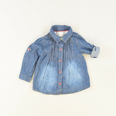 Camisa color Denim oscuro marca Baby Club 18 Meses  502365