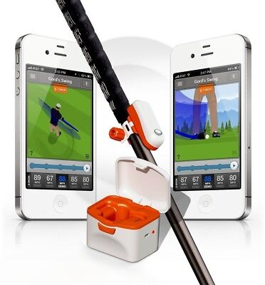 SkyCaddie SKYPRO Golf Swing Trainer Schwungtrainer Analysetool - weiß/Orange