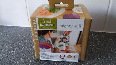 Mighty Mill  hand blender- creates pureed baby food in 3 easy steps