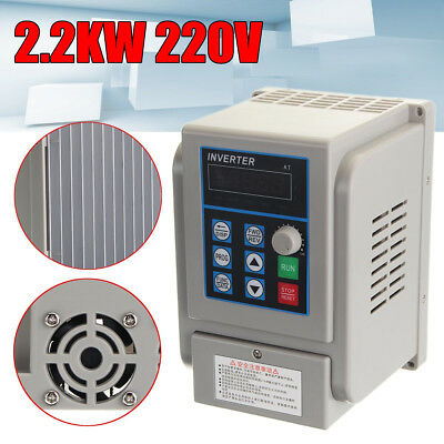 Upgrade 220V 3HP Single To 3 Phase Variable Frequency Drive Inverter CNC VFD