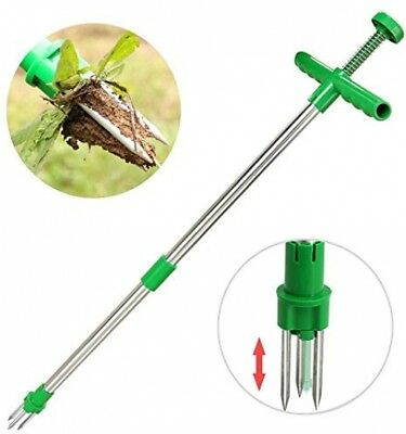 Long Handled Weed Remover Weeder Puller Garden Twist and amp; Pull Claw Tool #