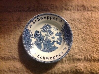 Vintage Schweppes Blue Willow Tip Bowl Enoch Wedgewood Tunstall LTD England