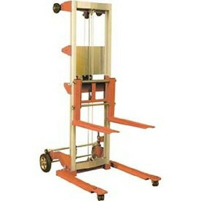 """NEW! Wesco Hand Winch Lift Truck 400 Lbs. 120"""" Lift Straddle Legs!!"""