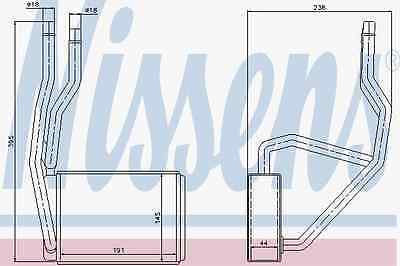 Heat Exchanger Interior Heating Ford Mazda - Nissens 71765