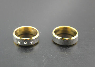 Newest Job Lots 30pcs stainless steel cz Gold band fashion rings