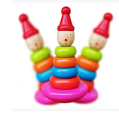 Kids Baby The clowns are stacked in the shape of the tower blocks, toys