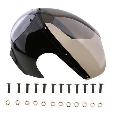 Universal Motorcycle Cafe Racer Headlight Fairing Cover with Bolts