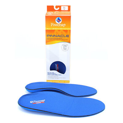 Powerstep Pinnacle Full Length Shoe Insole Orthotics, Blue/Blue, All SIZES