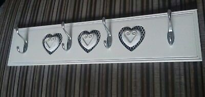 Wall Mounted Hallway Coat Hook Jewellery Holder Shabby Chic Vintage French Style