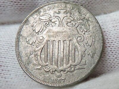 1867 Shield Nickel with Rays and free shipping