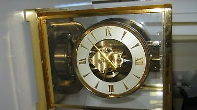 lecoultre clock atmos,1950's,with original packing and box