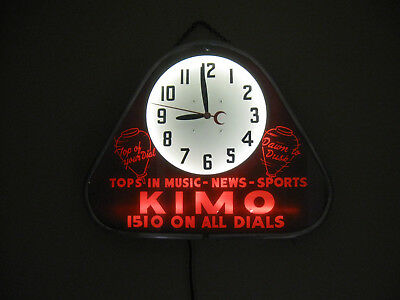Old Neon Clock Radio Station KIMO 1510 Kansas City,Mo Route 66