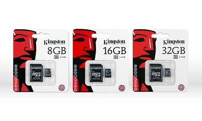 KINGSTON MICRO SD SDHC MEMORY CARD CLASS 4 WITH ADAPTER 8gb 16gb 32gb
