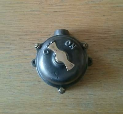 Vintage Industrial  ON/OFF Light Switch tested working condition.