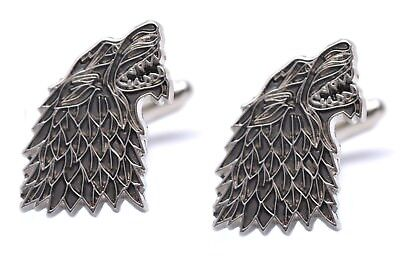Game Of Thrones Dire Wolf House Stark Sigil Pair Of Wolf Cufflinks Westeros GOT
