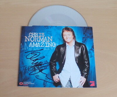 Chris Norman *Midnight Lady, Smokie* original signed CD Cover *Amazing* + CD
