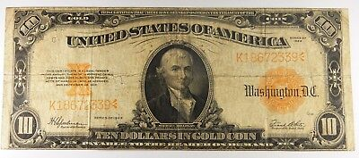1922 $10 (Ten) Large Size Gold Certificate (22633)