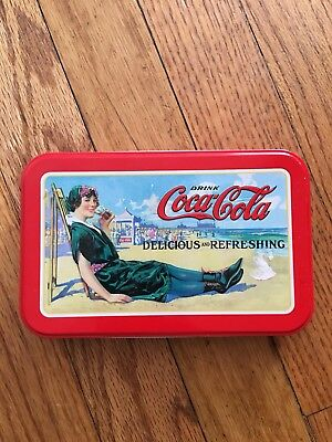 2001 Coca-Cola Bathing Beauties Playing Cards 2 Paks in Collectors Tin