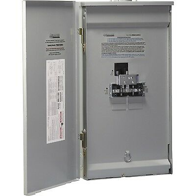Reliance Controls Corp. TWB2006DR 15000W Single Phase Outdoor Transfer Panel