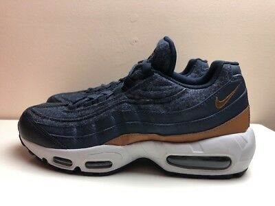 new style aba91 6a0fc Nike Air Max 95 Premium Wool Thunder Shoes Blue UK 7 EUR 41 538416 403