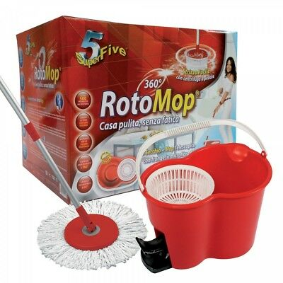 Rotomop superfive - kit completo con pedale