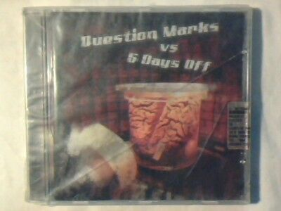 QUESTION MARKS vs 5 DAYS OFF Omonimo Same S/t cd split A-HA SIGILLATO SEALED