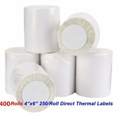 400 Roll 4x6 Direct Thermal Labels 250/Roll Zebra 2844 Eltron ZP450 Free Ship