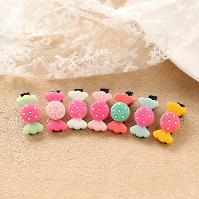5Pcs/Set Hairpins  Barrettes  Hair Clip  Candy  Kids Girls  Random Delivery