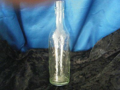 Rare Vintage Schweppes bottle 7 ounces w/embossed water fountain & flowers