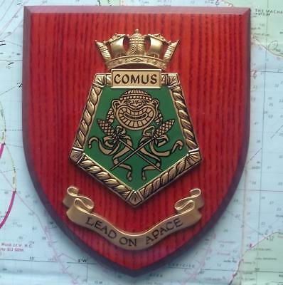 Vintage hms comus painted royal navy ship badge crest shield plaque vintage hms comus painted royal navy ship badge crest shield plaque a publicscrutiny Image collections