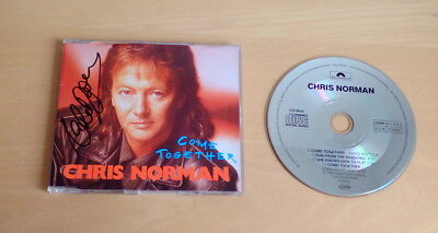 Chris Norman *Midnight Lady, Smokie* original signed CD Cover *Come Toge..* + CD