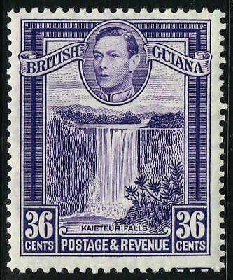 SG 313a BRITISH GUIANA 1951 – 36c BRIGHT VIOLET (perf. 13 x 14) – MOUNTED MINT