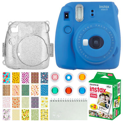 Fujifilm Instax Mini 9 Instant Film Camera (Cobalt Blue) + Instax (20 Shots)