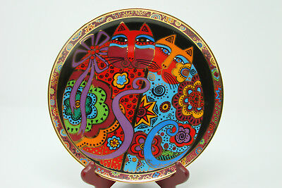 "Cheek to Cheek Cats Collectable 8"" Plate Laurel Burch Franklin Mint HA5225"