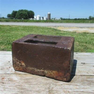 50Lb US Standard Platform Scale Test Weight Doorstop HitchingPost Anvil Swage a5