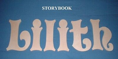 """Unpainted Wooden Wall Letters 10"""" size Home Decor Child Baby Nursery Storybook"""
