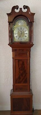 London Made Brass Faced Longcase Grandfather Clock