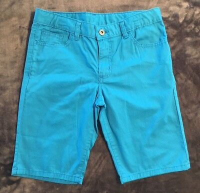 GIRLS BERMUDA SHORTS ~ size 14 ~ CARIBBEAN BLUE ~ by Faded Glory ~ NEW w/tag