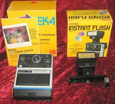 1 - Kodak EK4 Film Camera and Flash Attachment in Original Box (2018-045)