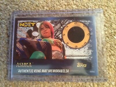 SLAM ATTAX 10th - ASUKA - NXT LIVE 2016 - Authentic Ring Mat Memorabilia - RMNC