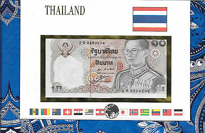 E Banknotes of All Nations Thailand 1980 10 Baht  P87a.4  UNC sign 55