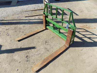 """Frontier 42"""" Forks For John Deere 300 Series Loaders, Jd Quick Attach, S#116627"""