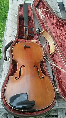 Stradiuarius violin (Nippon) w/ Weidlich bow & case for parts